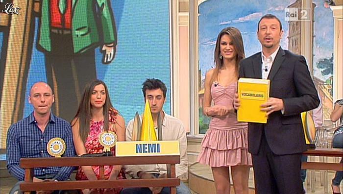 Arianna Rendina dans Mezzogiorno in Famiglia. Diffusé à la télévision le 19/05/13.