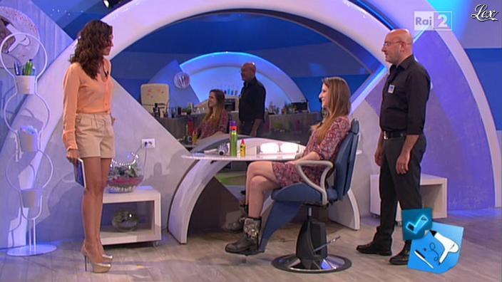 Caterina Balivo dans Detto Fatto. Diffusé à la télévision le 17/05/13.