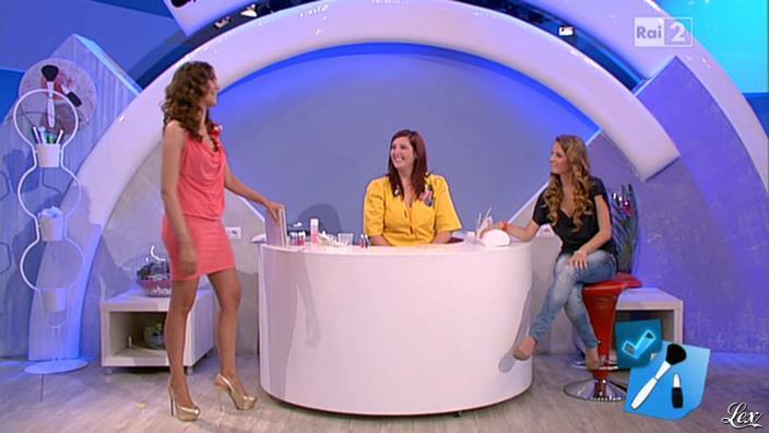 Caterina Balivo dans Detto Fatto. Diffusé à la télévision le 24/05/13.