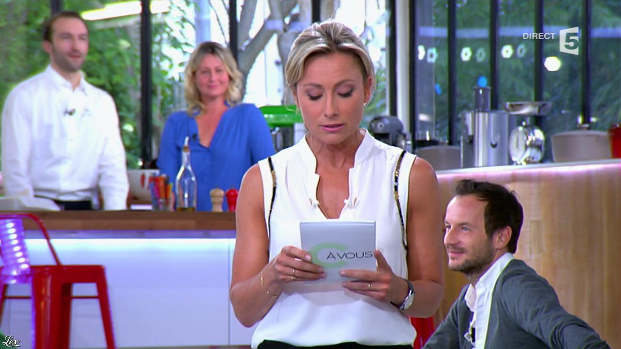 Anne-Sophie Lapix dans C à Vous. Diffusé à la télévision le 12/05/14.
