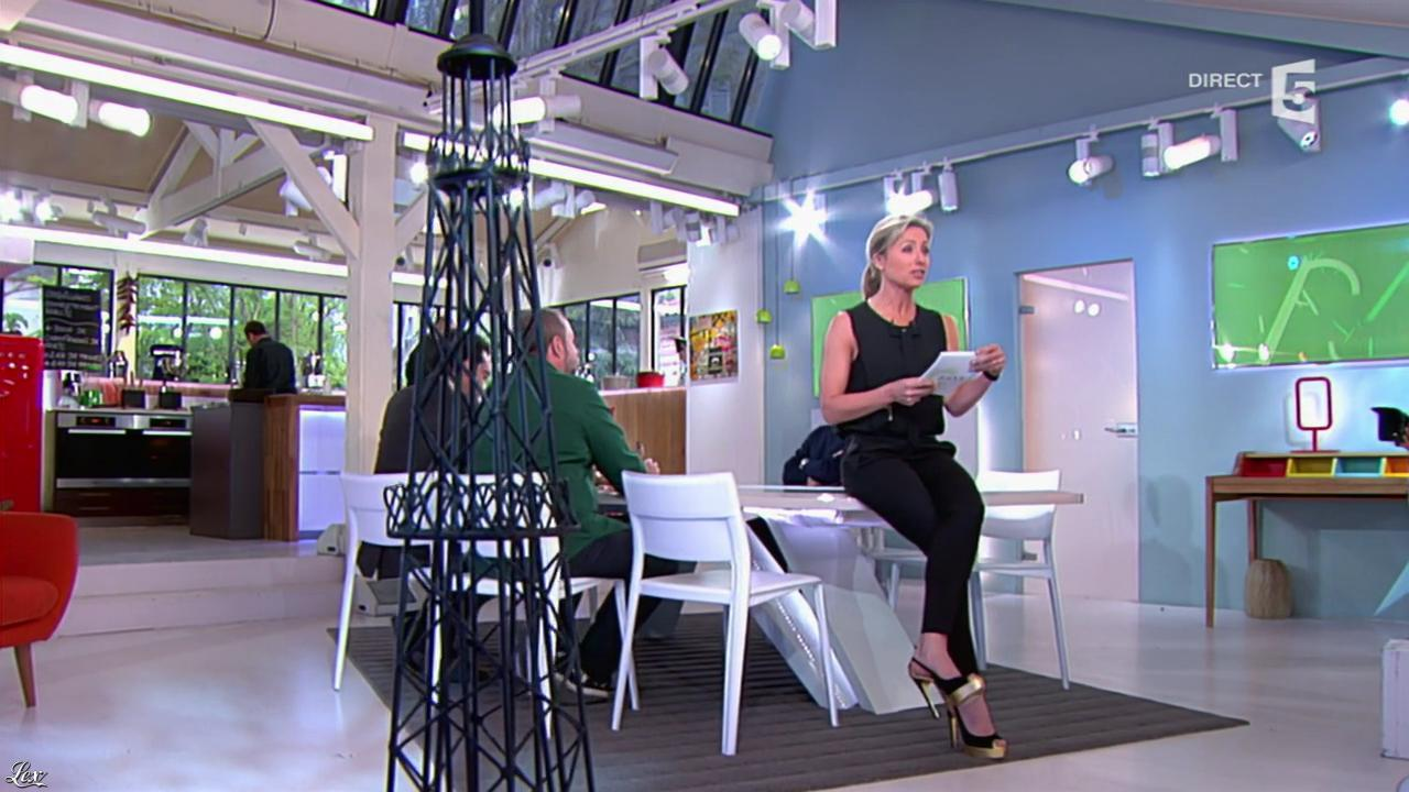 Anne-Sophie Lapix dans C à Vous. Diffusé à la télévision le 15/04/14.