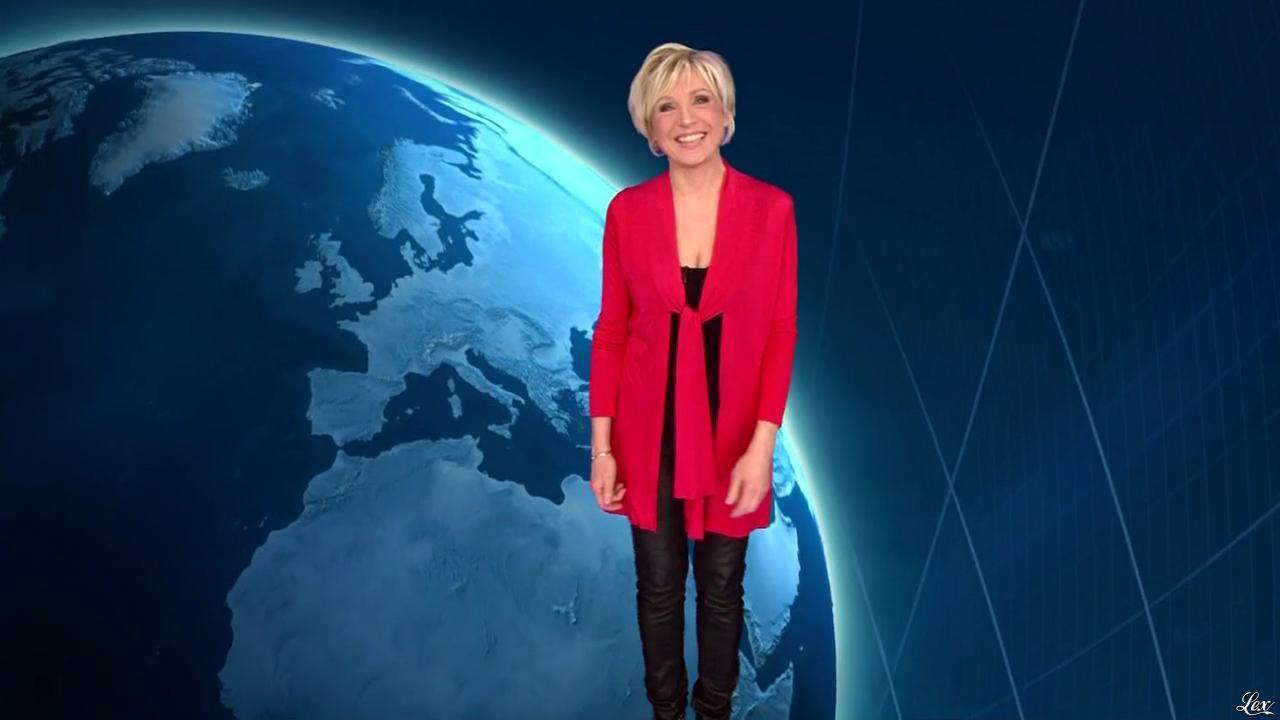 Evelyne Dhéliat à la Météo de 20h. Diffusé à la télévision le 13/05/14.
