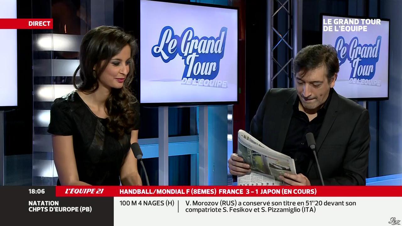 Malika Ménard dans le Grand Tour de l'Equipe. Diffusé à la télévision le 15/12/13.