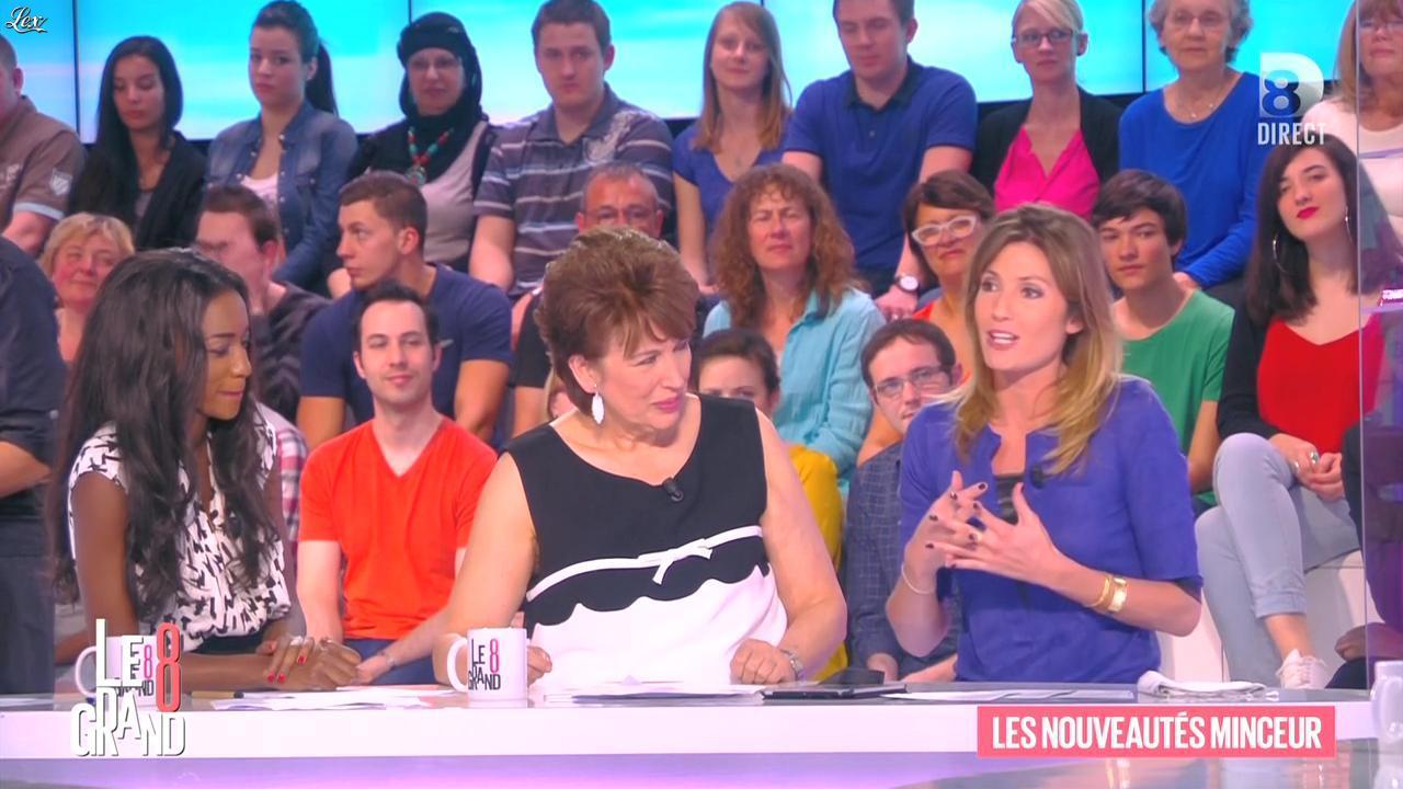 Hapsatou Sy et Caroline Ithurbide dans le Grand 8. Diffusé à la télévision le 16/04/15.