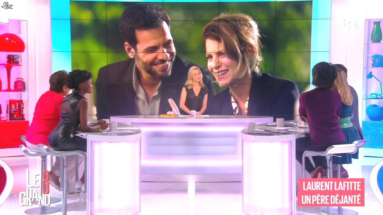 Laurence Ferrari, Hapsatou Sy et Audrey Pulvar dans le Grand 8. Diffusé à la télévision le 06/02/15.