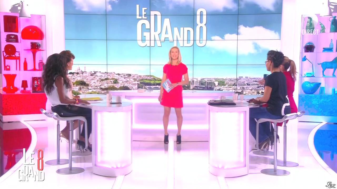 Laurence Ferrari, Hapsatou Sy et Audrey Pulvar dans le Grand 8. Diffusé à la télévision le 09/04/15.