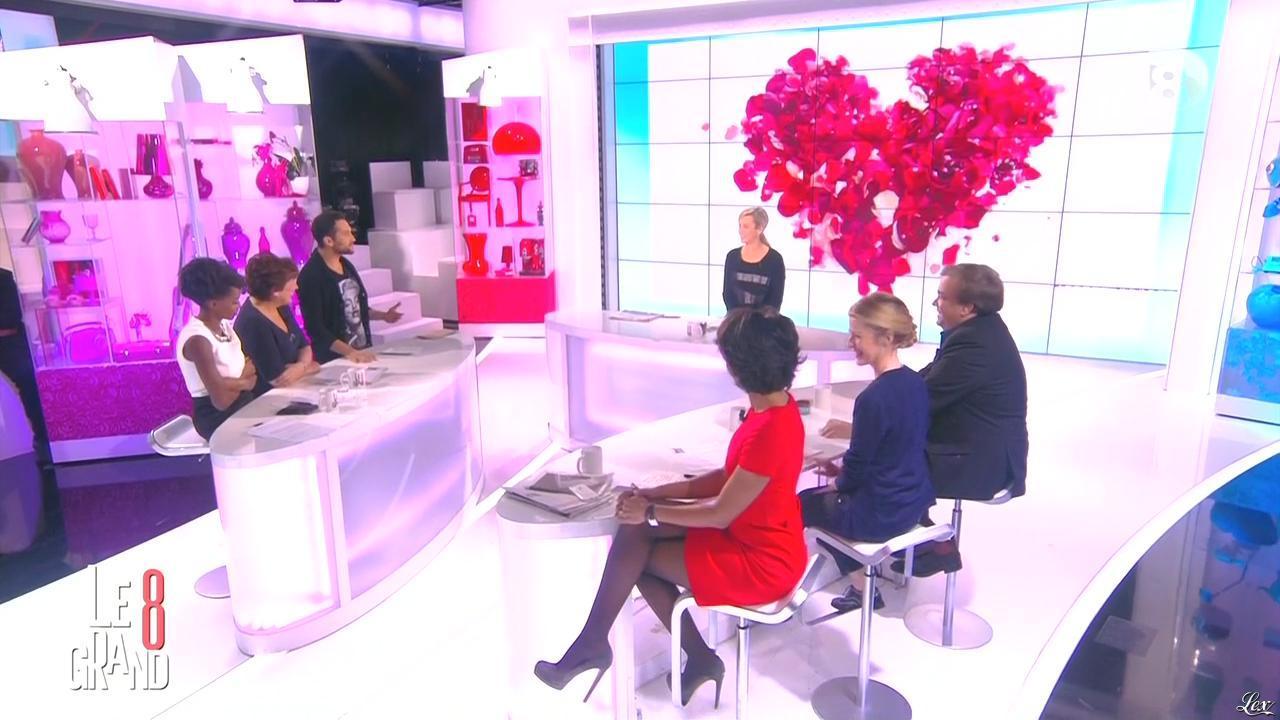 Laurence Ferrari, Hapsatou Sy et Audrey Pulvar dans le Grand 8. Diffusé à la télévision le 13/02/15.