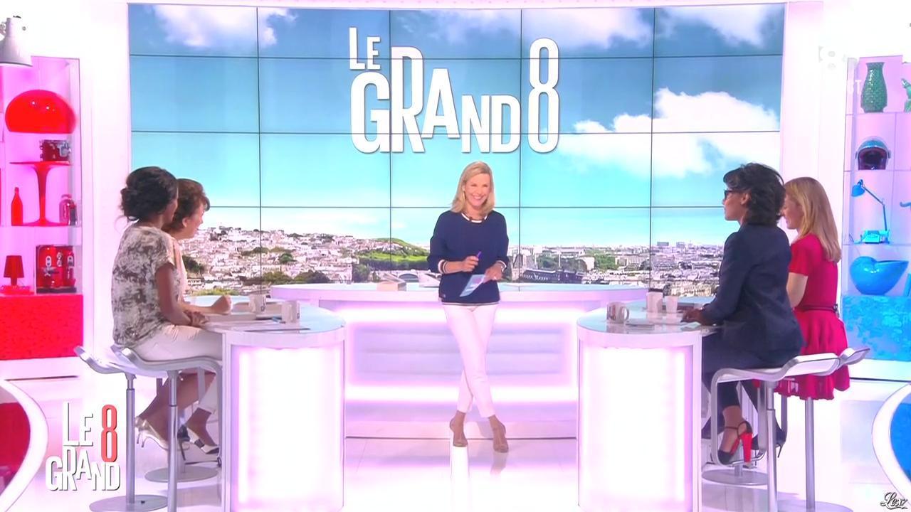 Laurence Ferrari, Hapsatou Sy et Audrey Pulvar dans le Grand 8. Diffusé à la télévision le 15/04/15.
