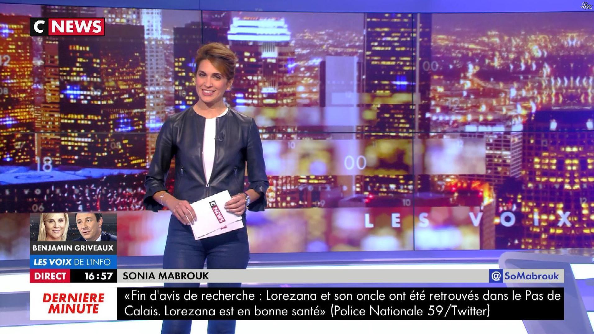 Sonia Mabrouk dans les Voix de l'Info. Diffusé à la télévision le 11/06/18.