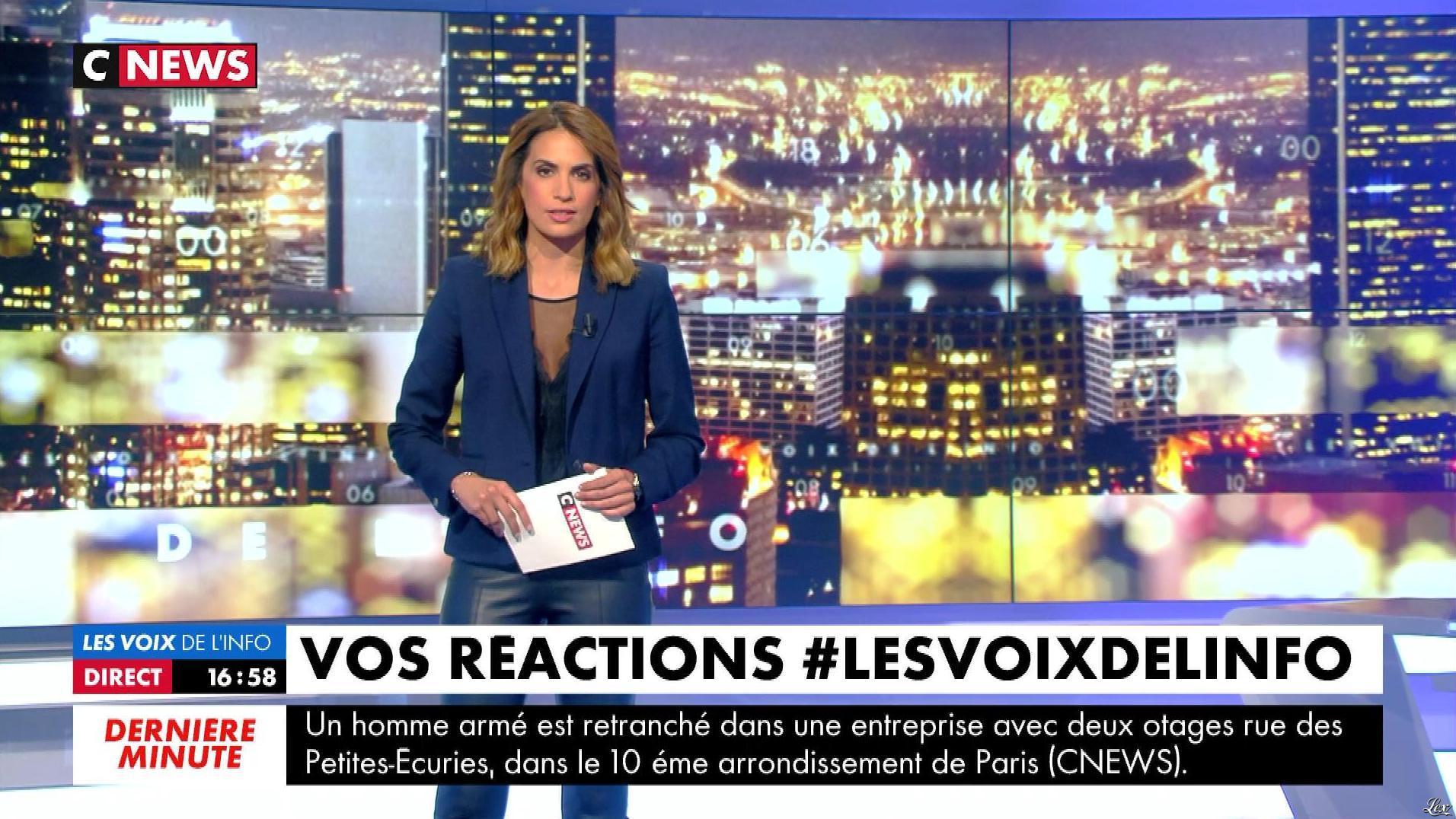 Sonia Mabrouk dans les Voix de l'Info. Diffusé à la télévision le 12/06/18.