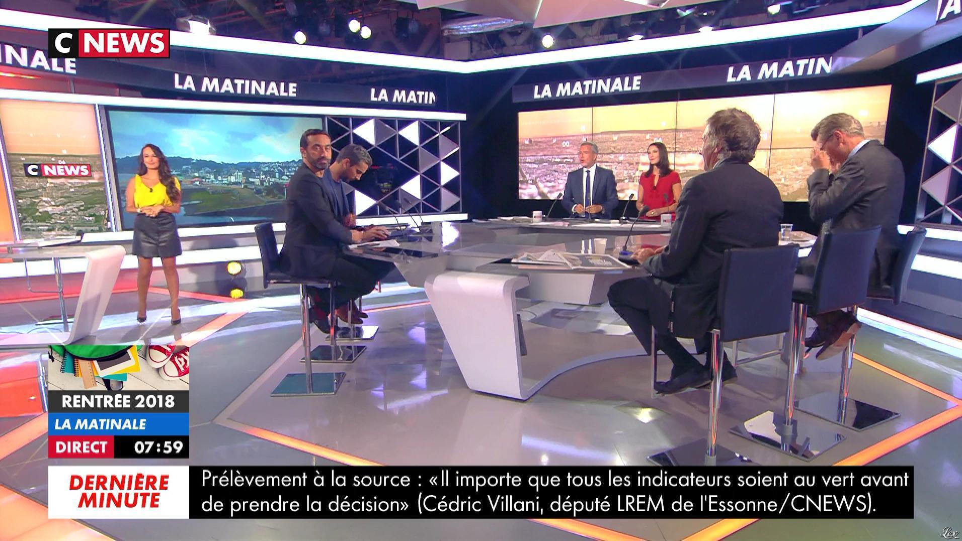 Alexandra Blanc dans la Matinale. Diffusé à la télévision le 02/09/18.