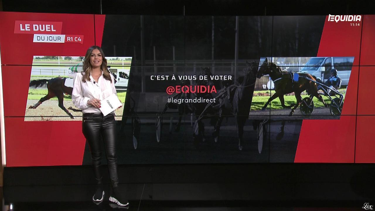 Amélie Bitoun dans le Grand Direct. Diffusé à la télévision le 27/04/18.