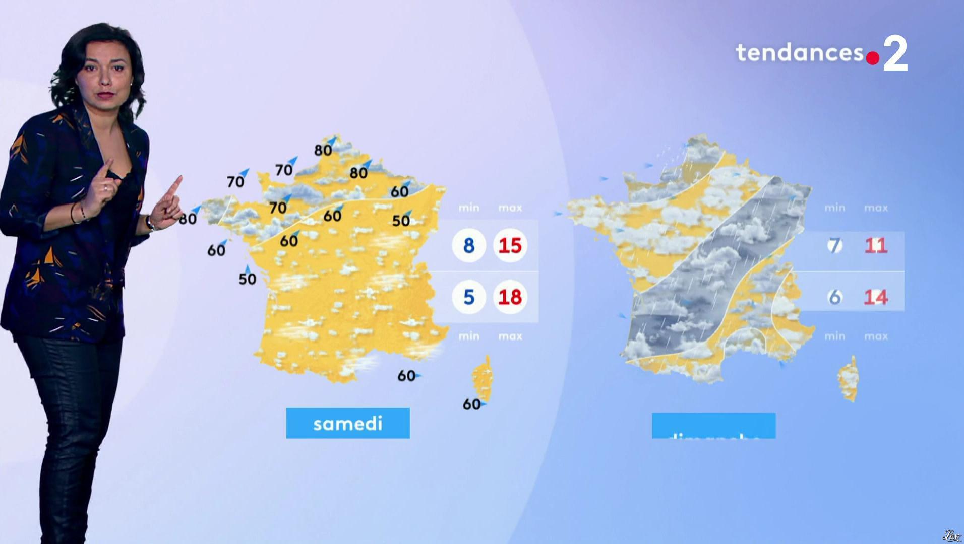 Anais Baydemir à la Météo de Midi. Diffusé à la télévision le 13/03/19.