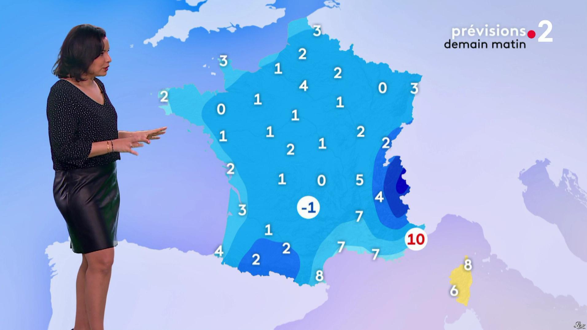 Anaïs Baydemir à la Météo du Soir. Diffusé à la télévision le 25/03/19.