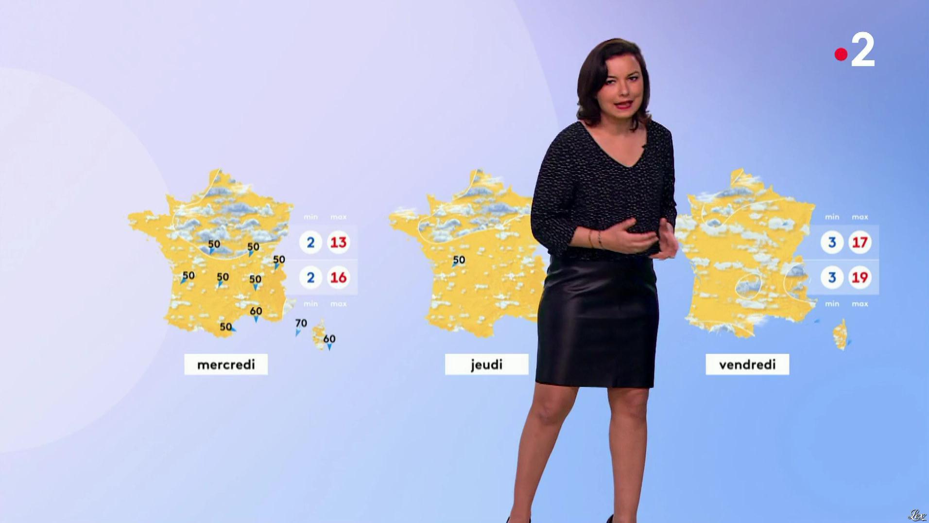 Anais Baydemir à la Météo du Soir. Diffusé à la télévision le 25/03/19.