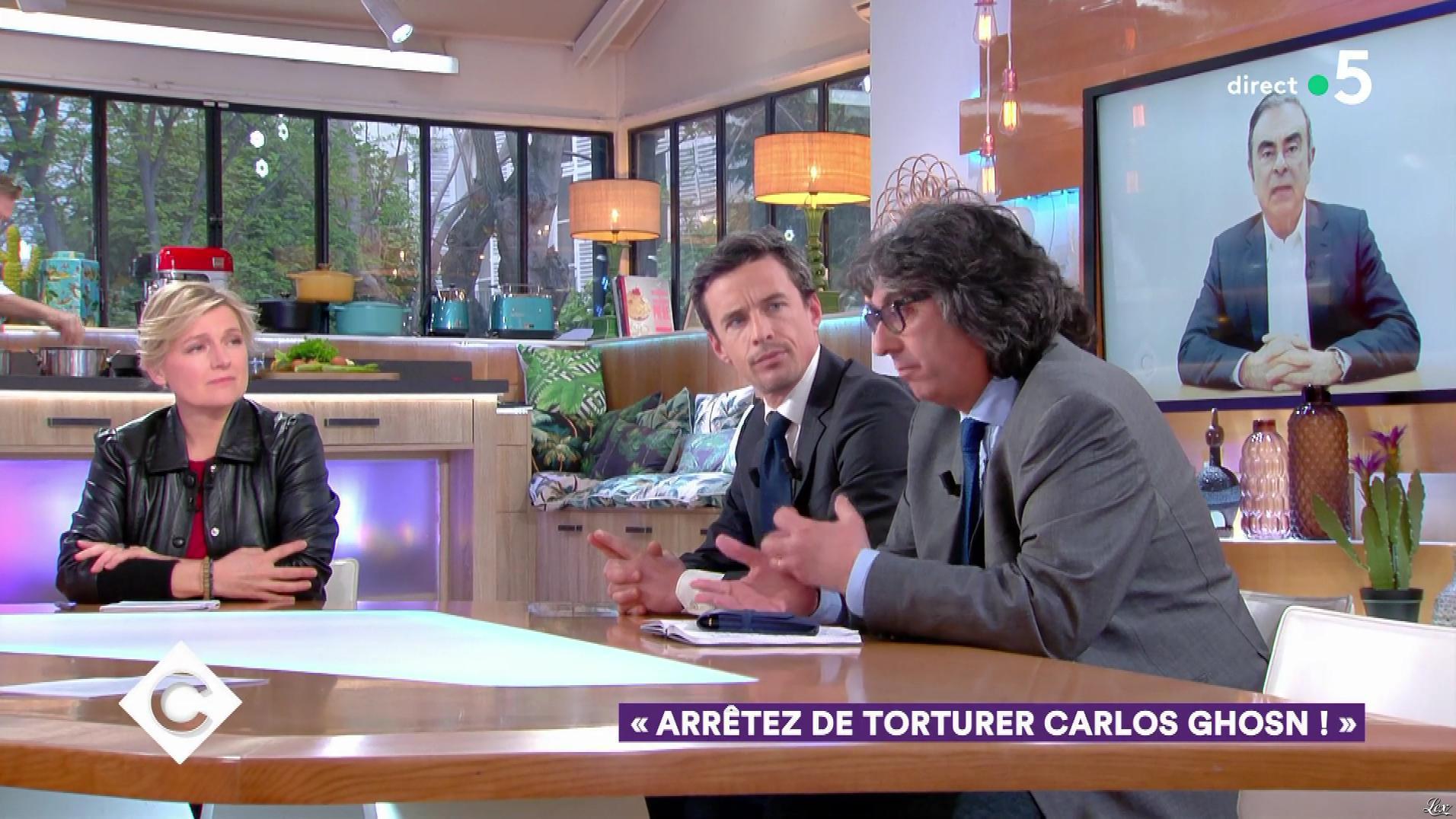 Anne-Elisabeth Lemoine dans C à Vous. Diffusé à la télévision le 09/04/19.