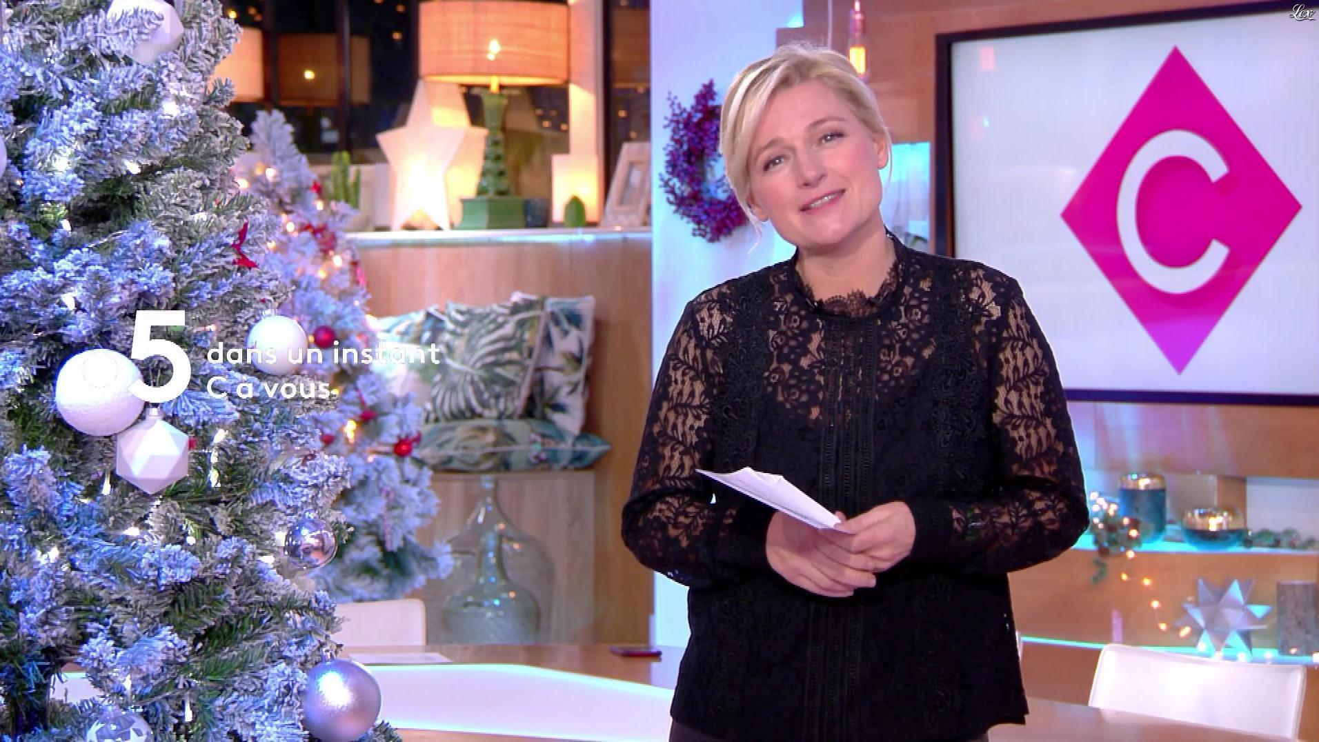 Anne-Elisabeth Lemoine dans C à Vous. Diffusé à la télévision le 31/12/18.