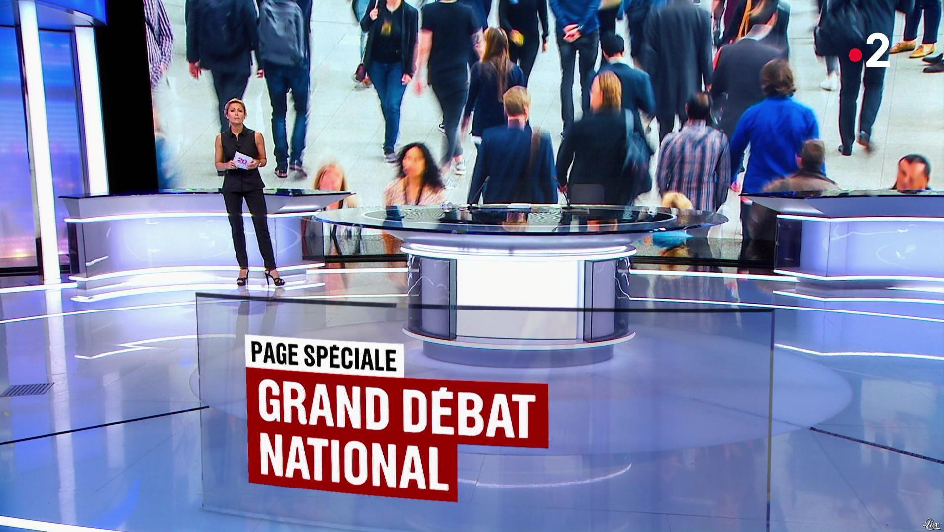 Anne-Sophie Lapix dans le 20h. Diffusé à la télévision le 09/01/19.