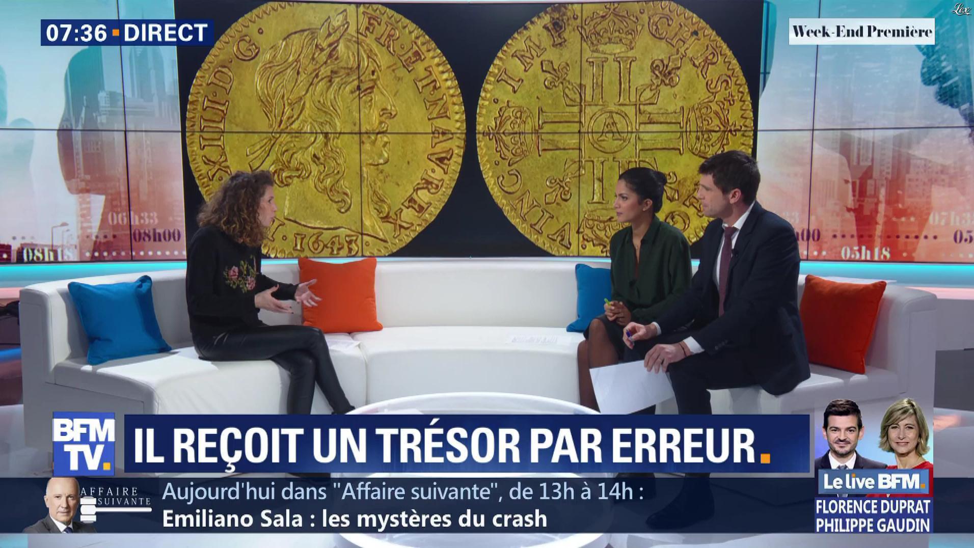 Aurélie Casse et Nina Godart dans Week-End Première. Diffusé à la télévision le 10/02/19.