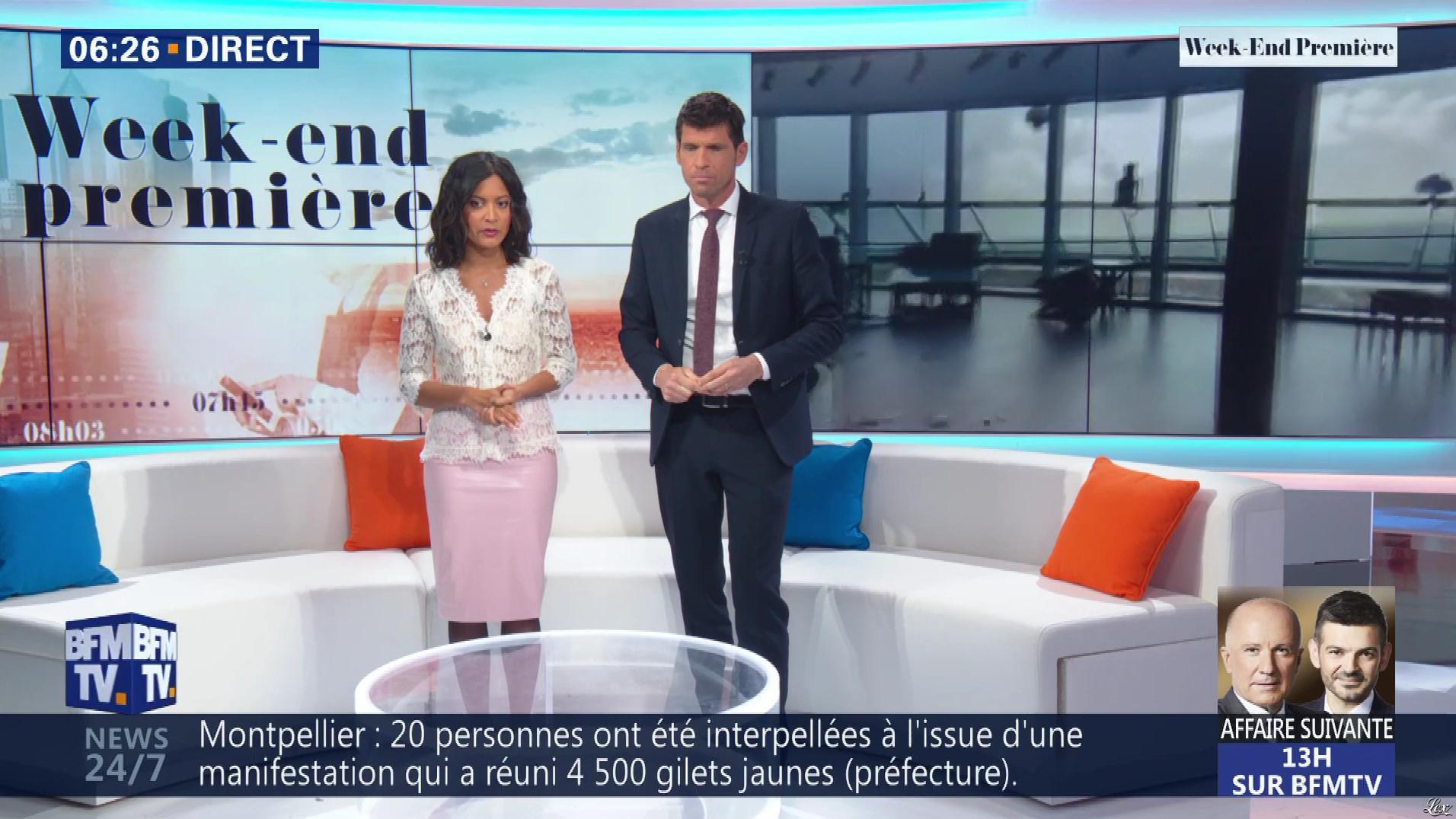 Aurélie Casse dans Week-End Première. Diffusé à la télévision le 24/03/19.