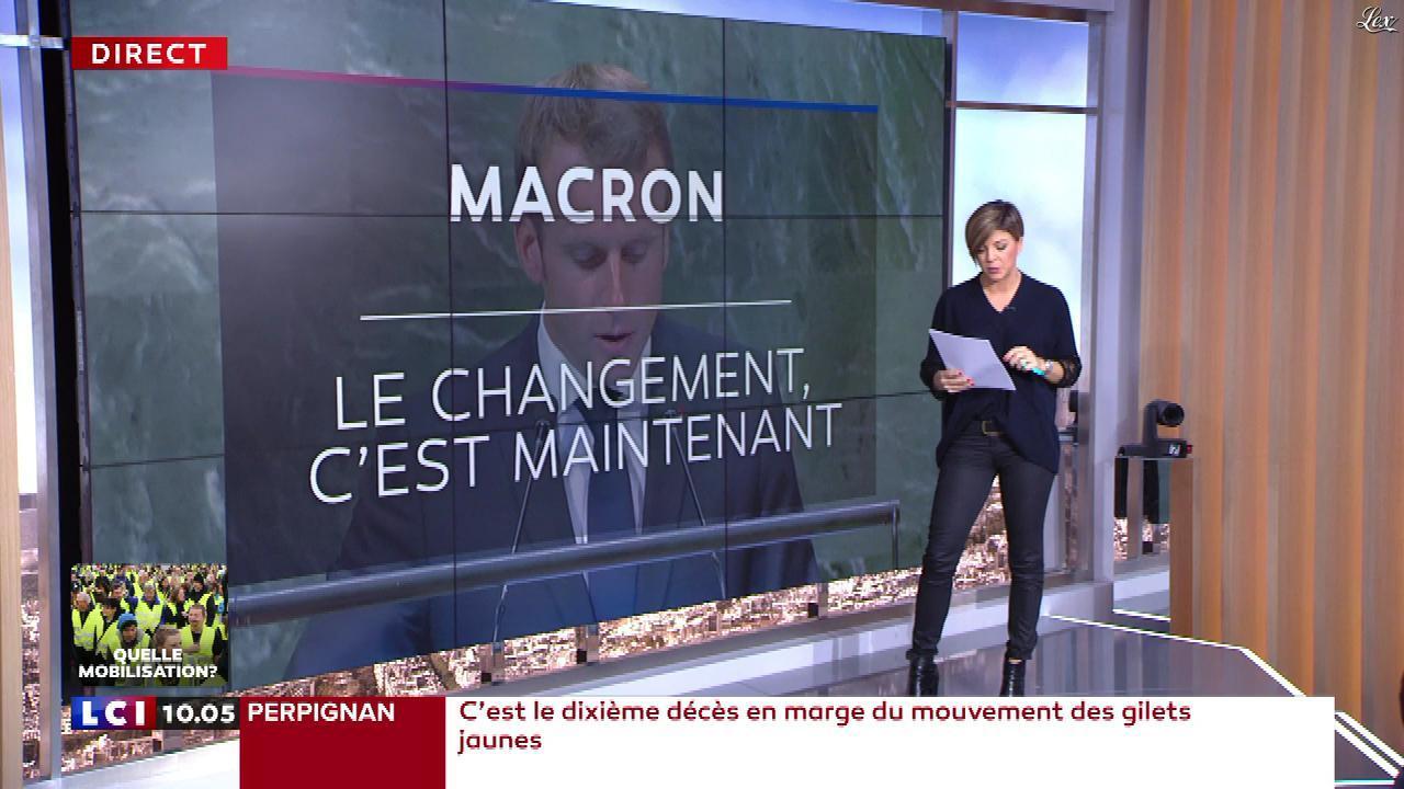Benedicte Le Chatelier dans le Brunch. Diffusé à la télévision le 22/12/18.