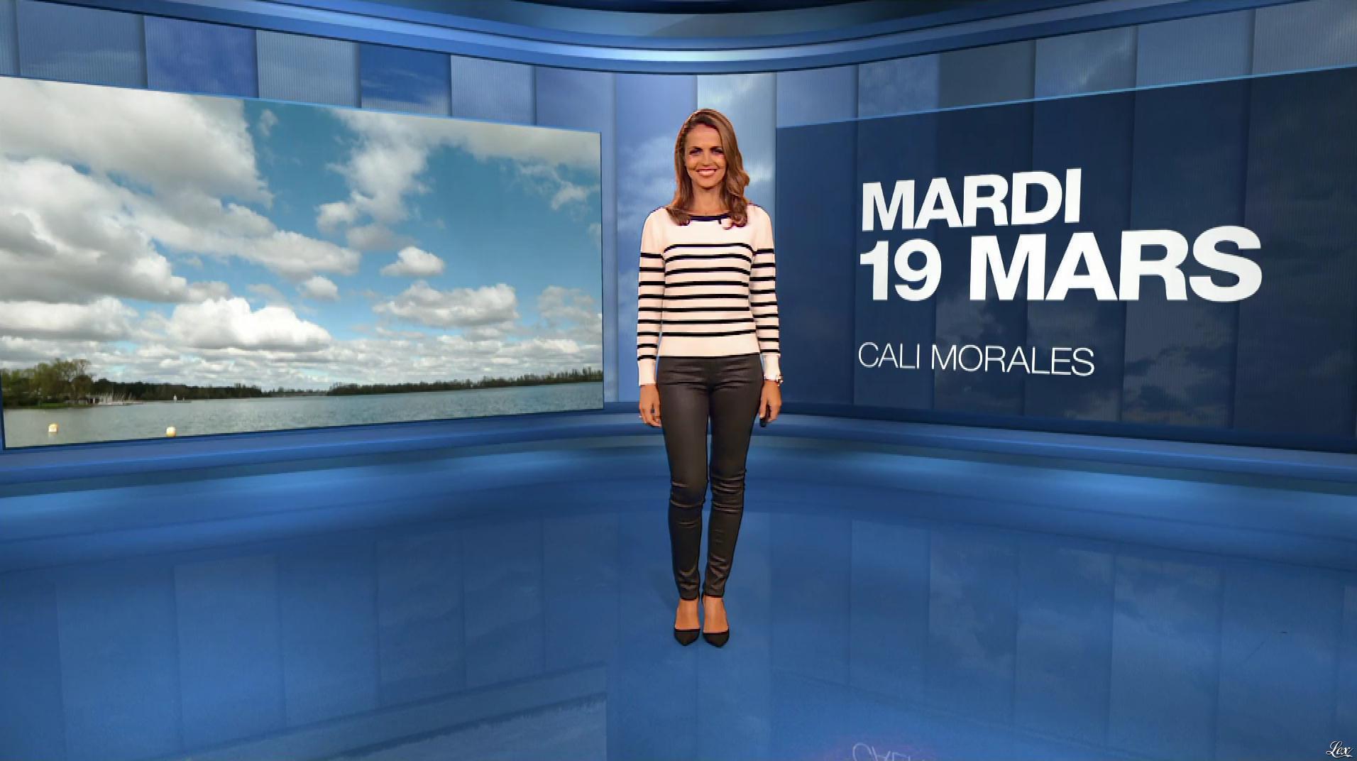 Cali Morales à la Météo du Soir. Diffusé à la télévision le 19/03/19.