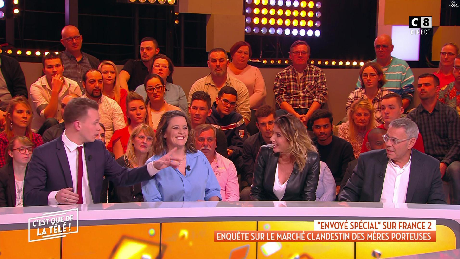 Caroline Ithurbide dans c'est Que de la Télé. Diffusé à la télévision le 04/02/19.