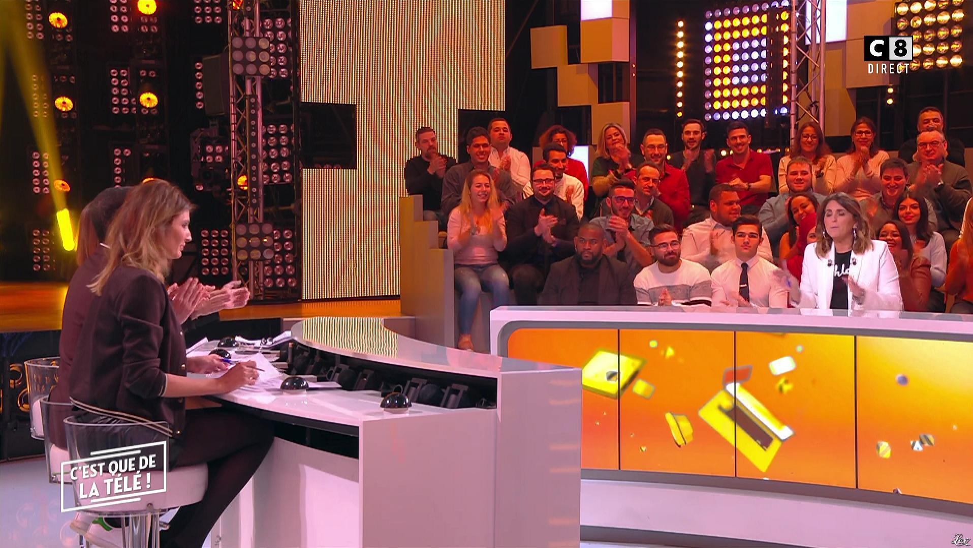 Caroline Ithurbide dans c'est Que de la Télé. Diffusé à la télévision le 23/01/19.