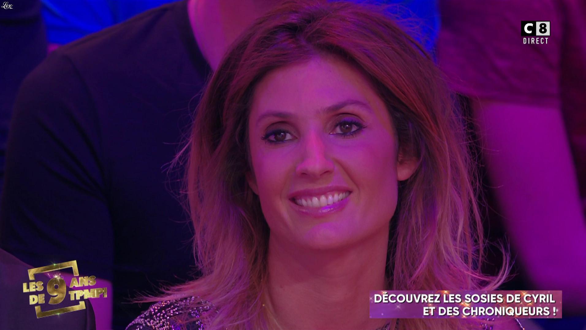 Caroline Ithurbide dans Touche pas à mon Poste. Diffusé à la télévision le 04/04/19.
