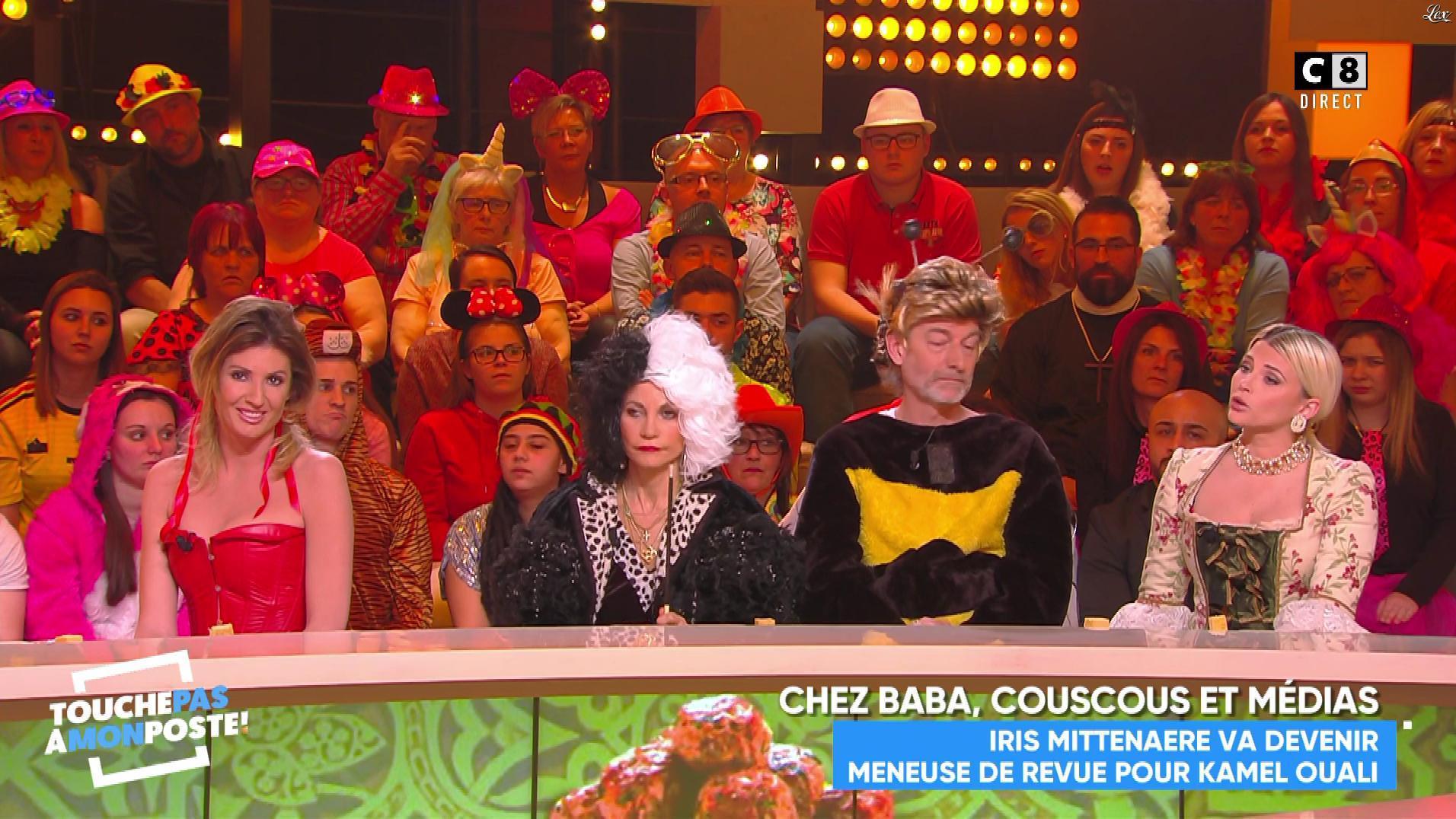 Caroline Ithurbide dans Touche pas à mon Poste. Diffusé à la télévision le 05/03/19.