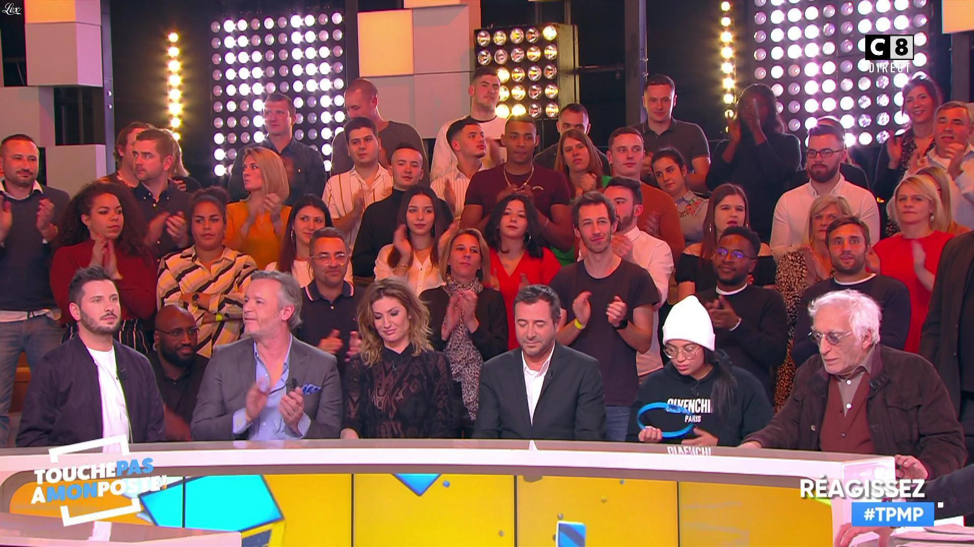 Caroline Ithurbide dans Touche pas à mon Poste. Diffusé à la télévision le 29/01/19.