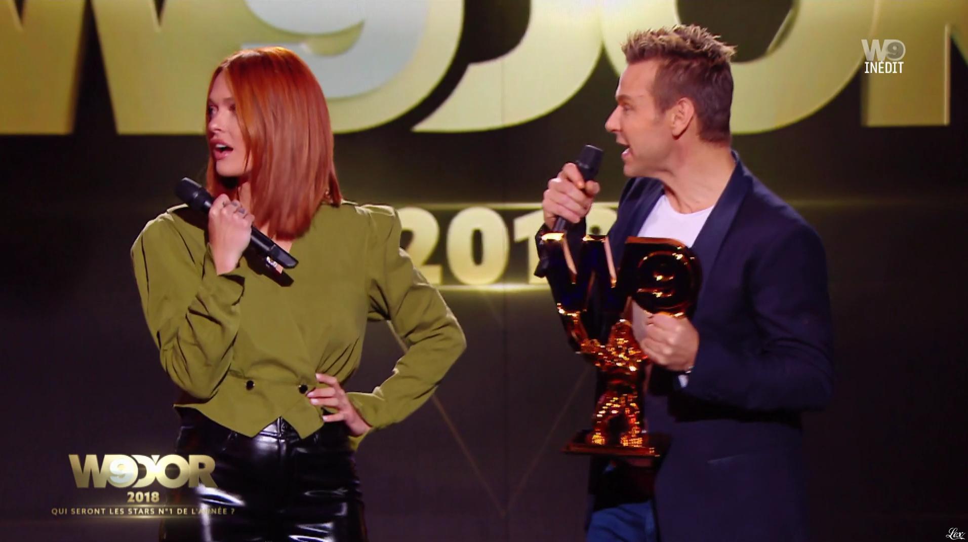 Caroline Receveur lors des W9 d'Or. Diffusé à la télévision le 20/12/18.