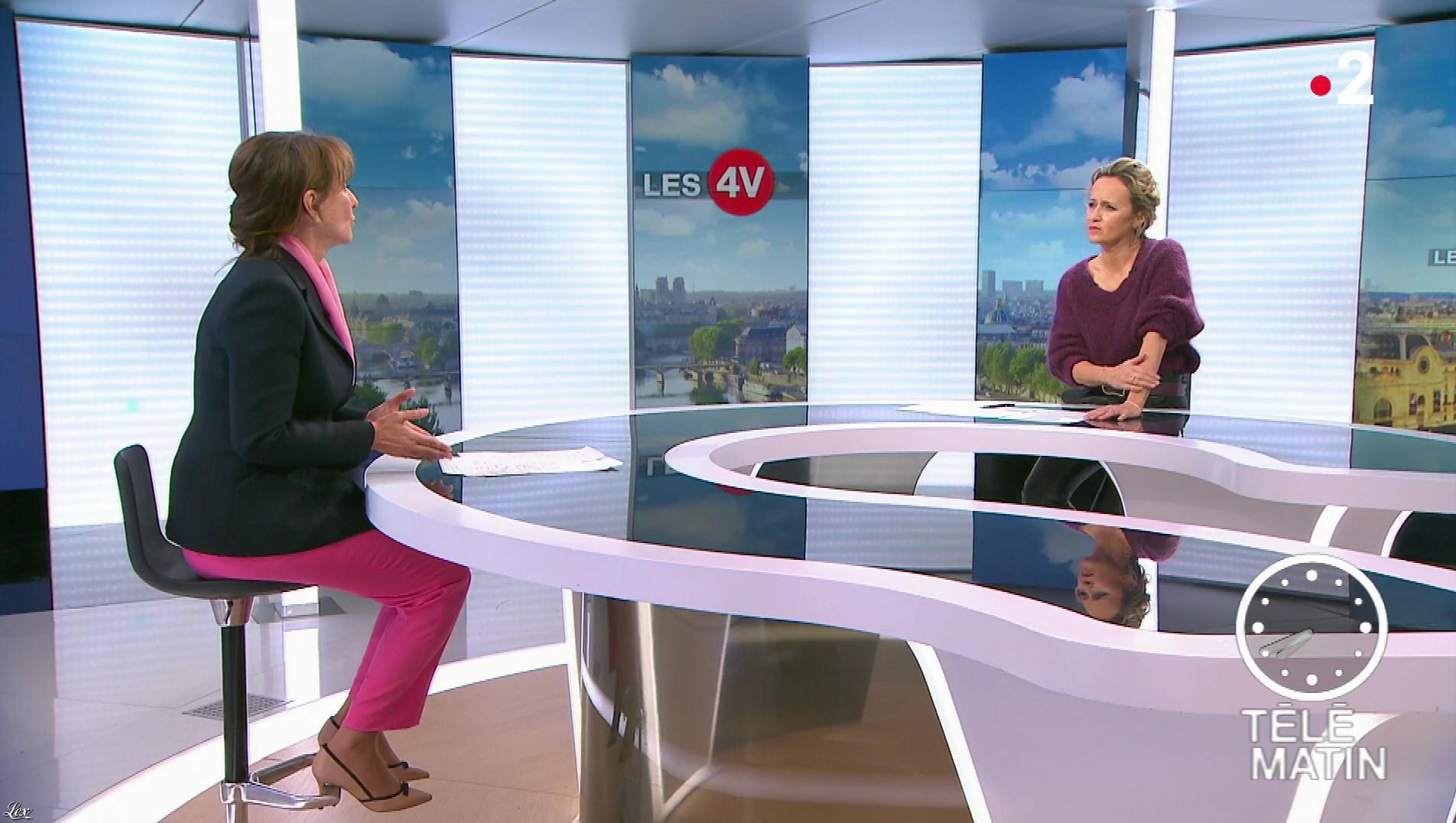 Caroline Roux dans les 4 Vérités. Diffusé à la télévision le 06/03/19.