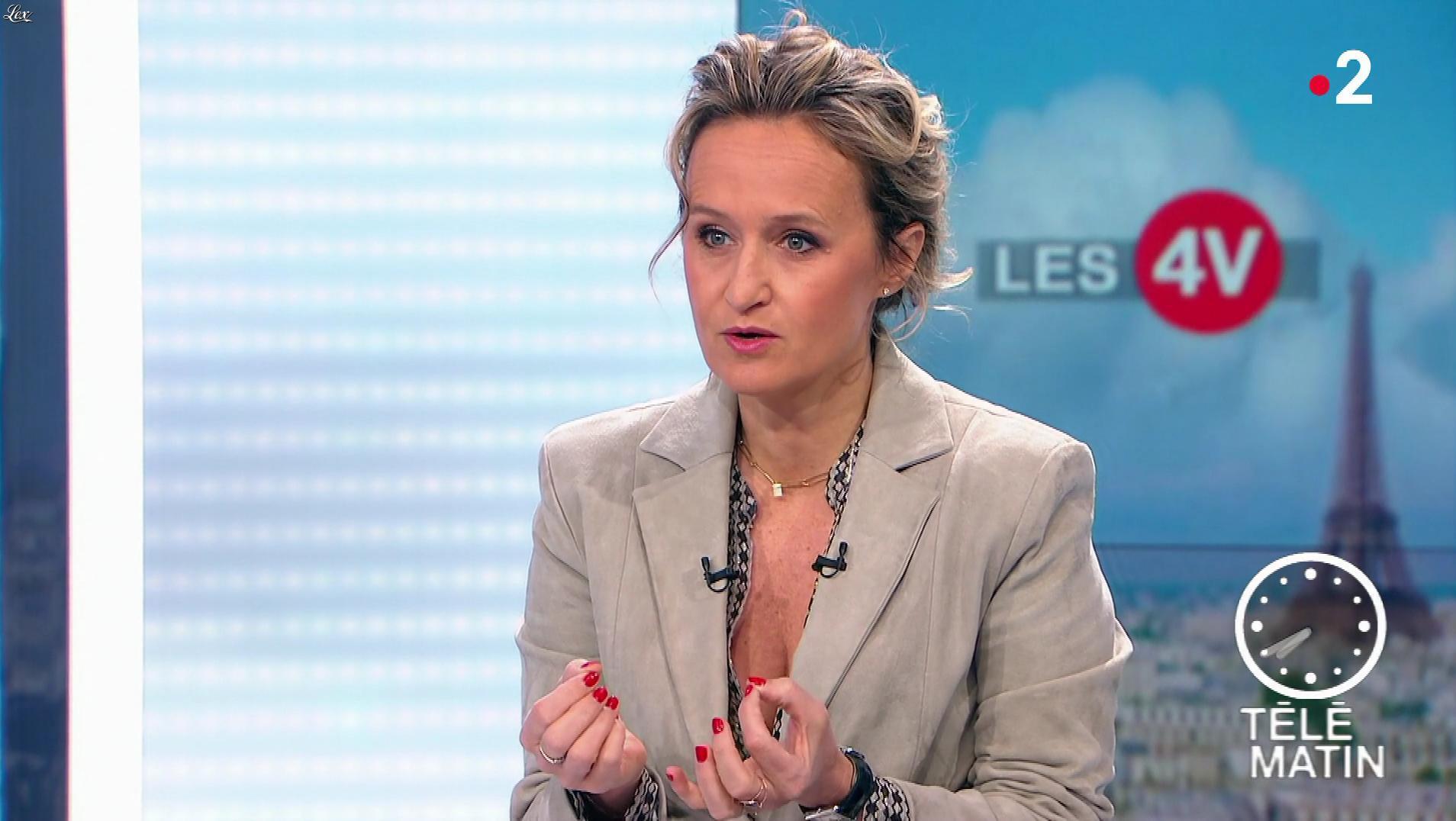 Caroline Roux dans les 4 Vérités. Diffusé à la télévision le 06/05/19.