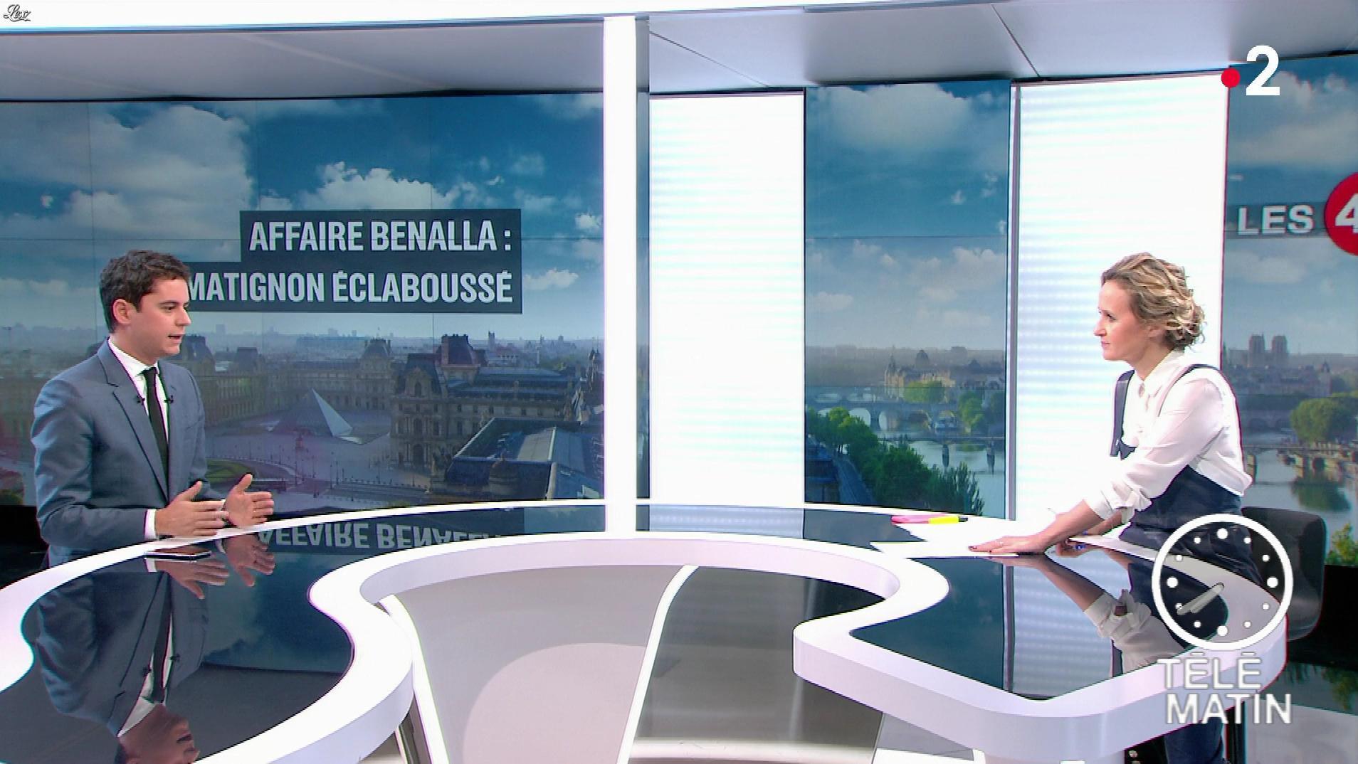 Caroline Roux dans les 4 Vérités. Diffusé à la télévision le 07/02/19.