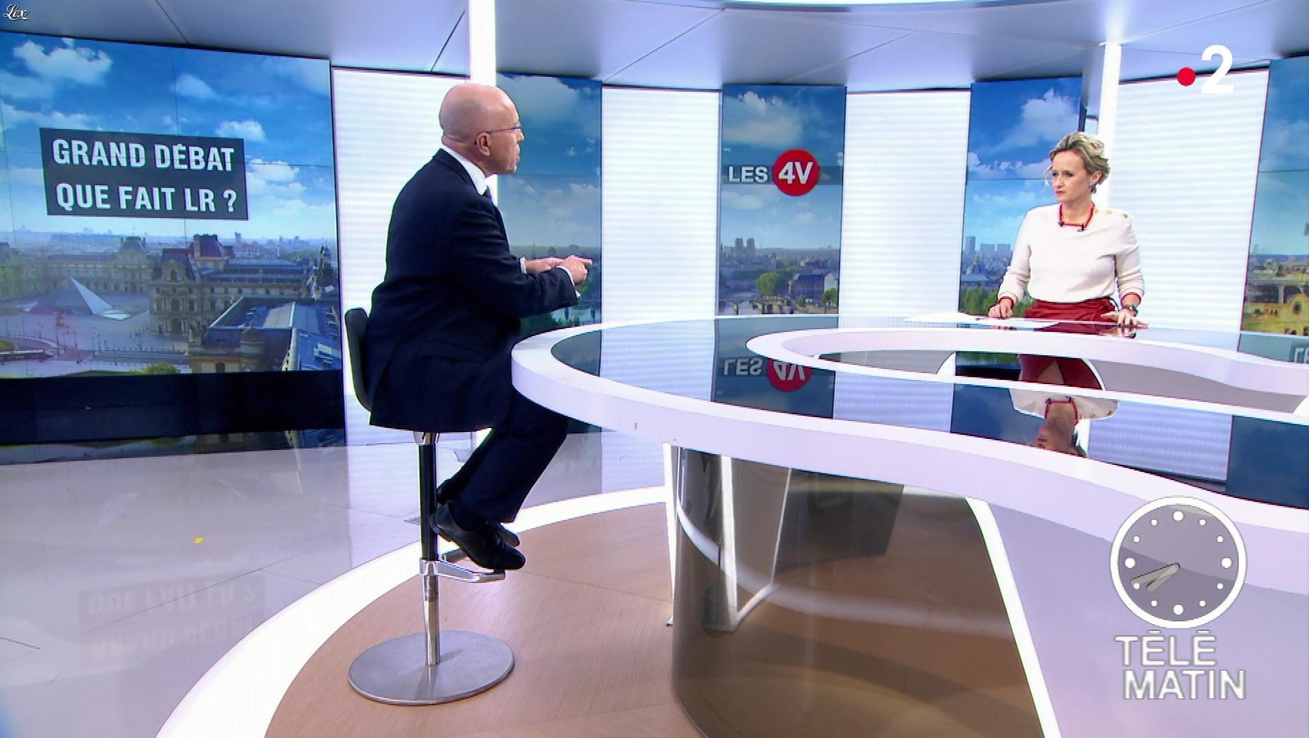 Caroline Roux dans les 4 Vérités. Diffusé à la télévision le 17/01/19.