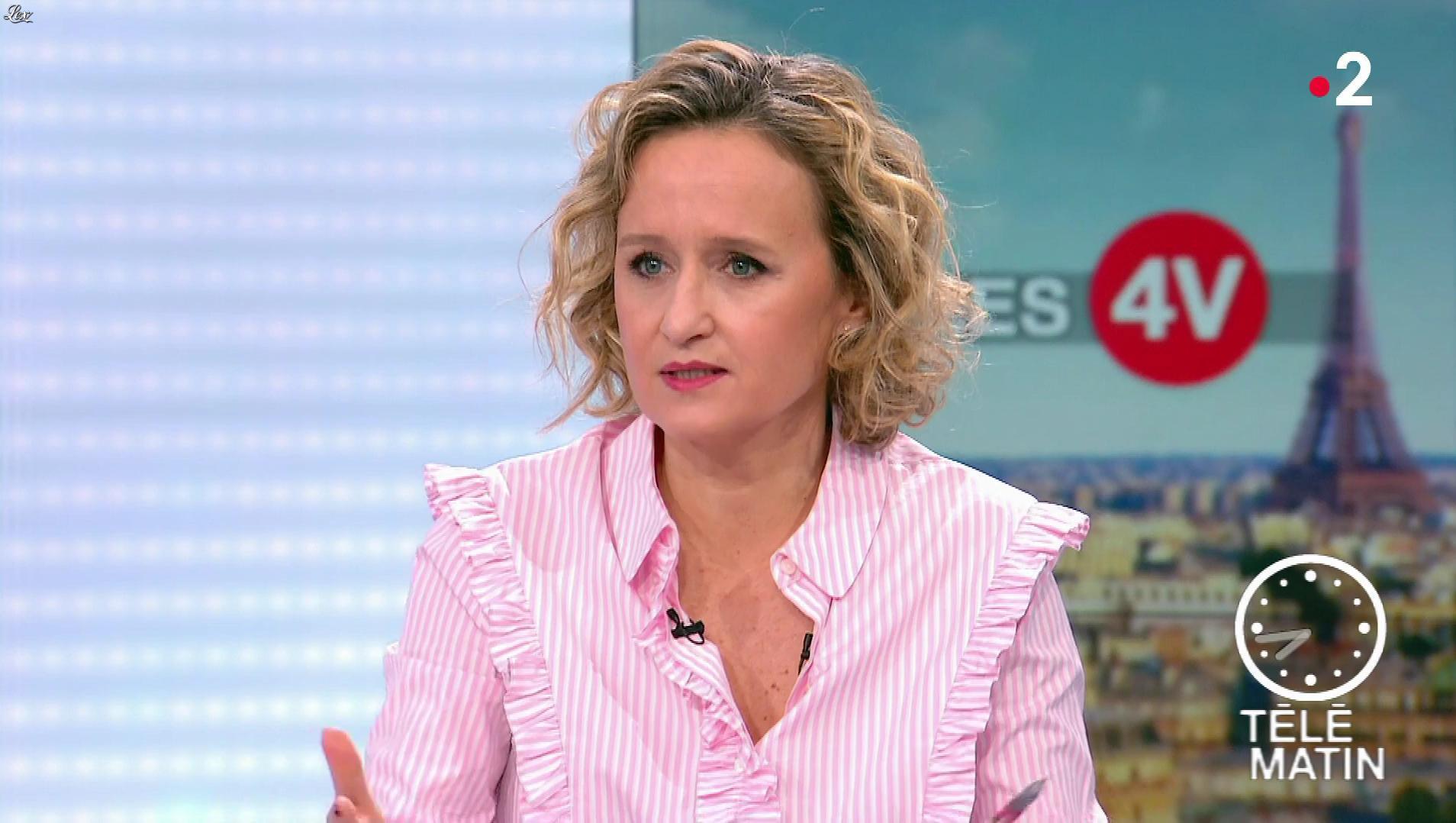 Caroline Roux dans les 4 Vérités. Diffusé à la télévision le 27/11/18.