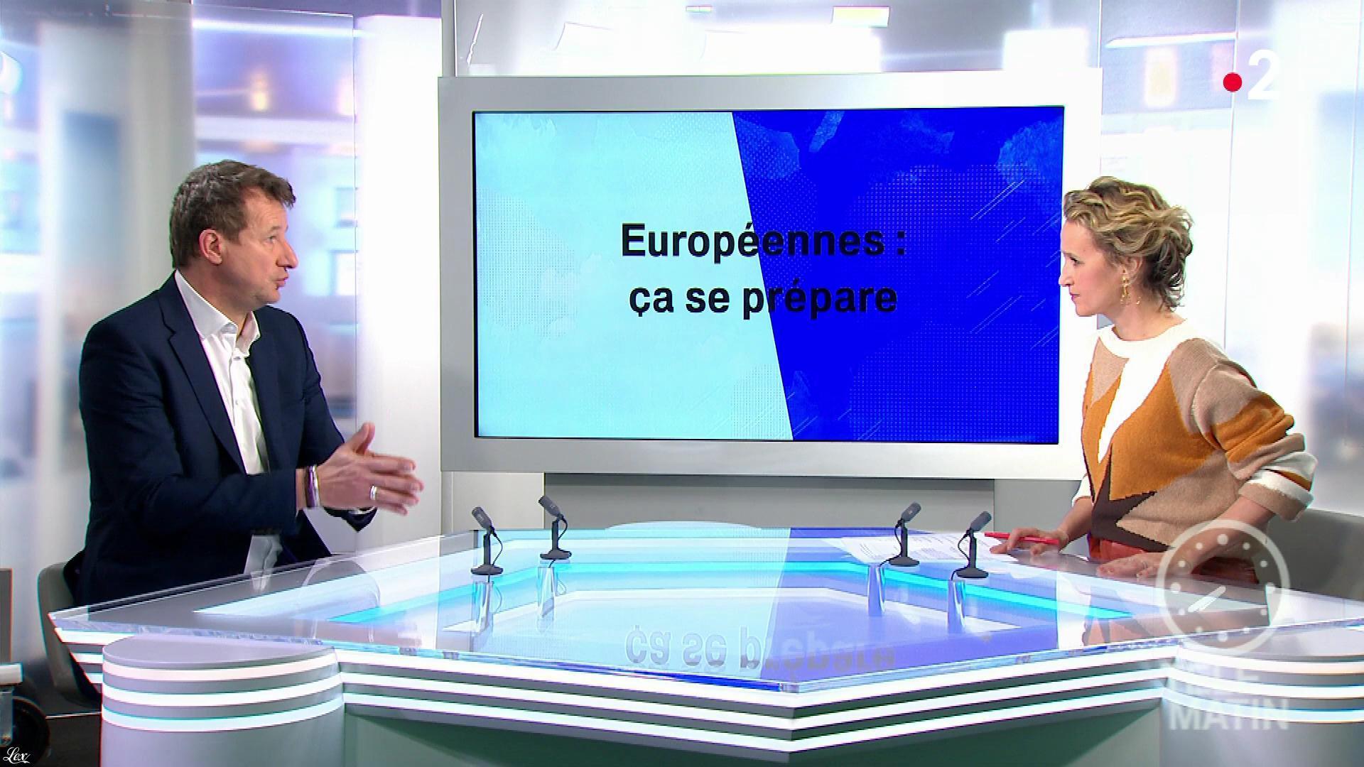 Caroline Roux dans les 4 Vérités. Diffusé à la télévision le 29/01/19.