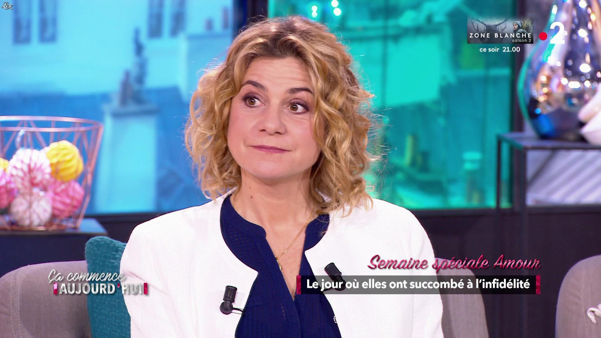 Christèle Albaret dans Ça Commence Aujourd'hui. Diffusé à la télévision le 11/02/19.