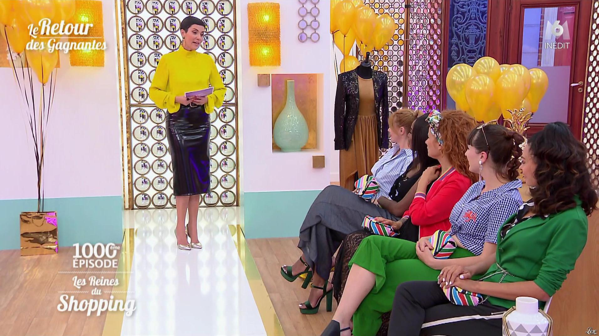 Cristina Cordula dans les Reines du Shopping. Diffusé à la télévision le 26/10/18.
