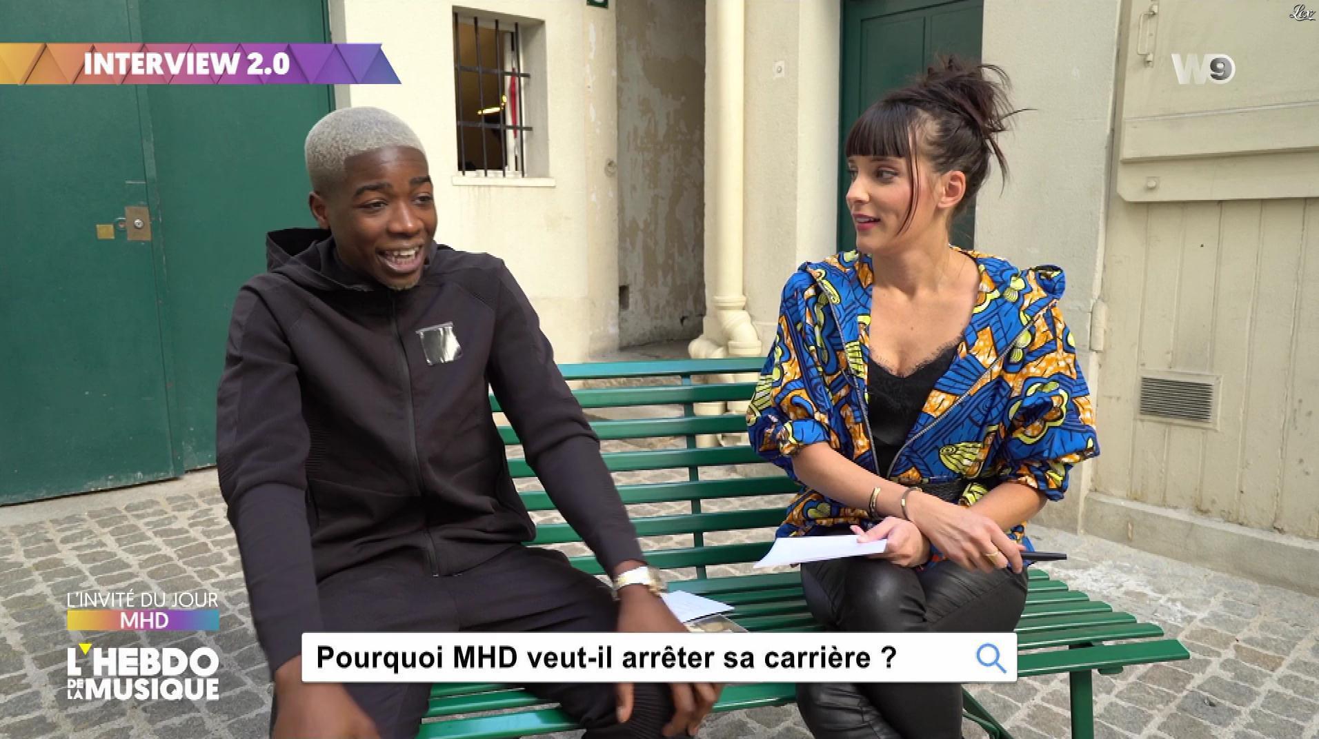 Erika Moulet dans l'Hebdo de la Musique. Diffusé à la télévision le 06/10/18.
