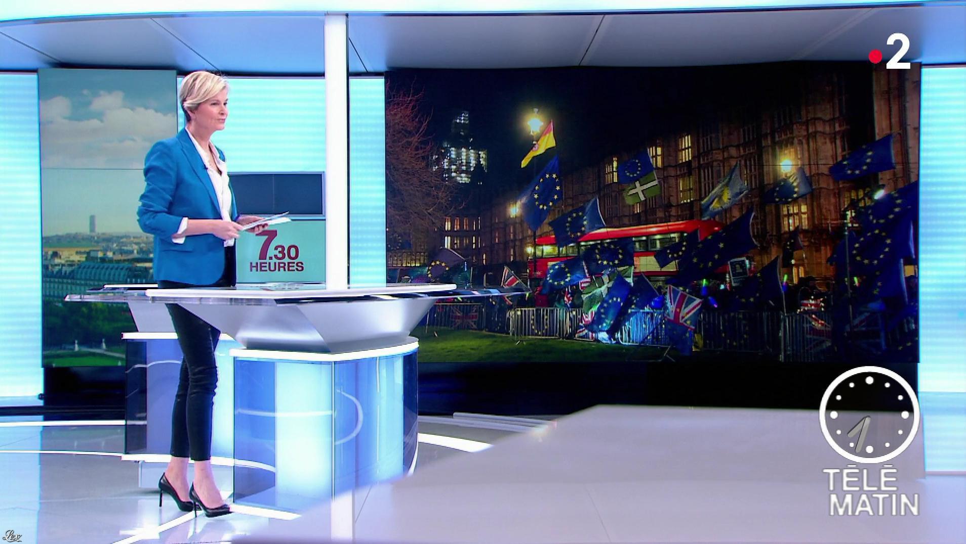 Estelle Colin dans Télématin. Diffusé à la télévision le 13/03/19.