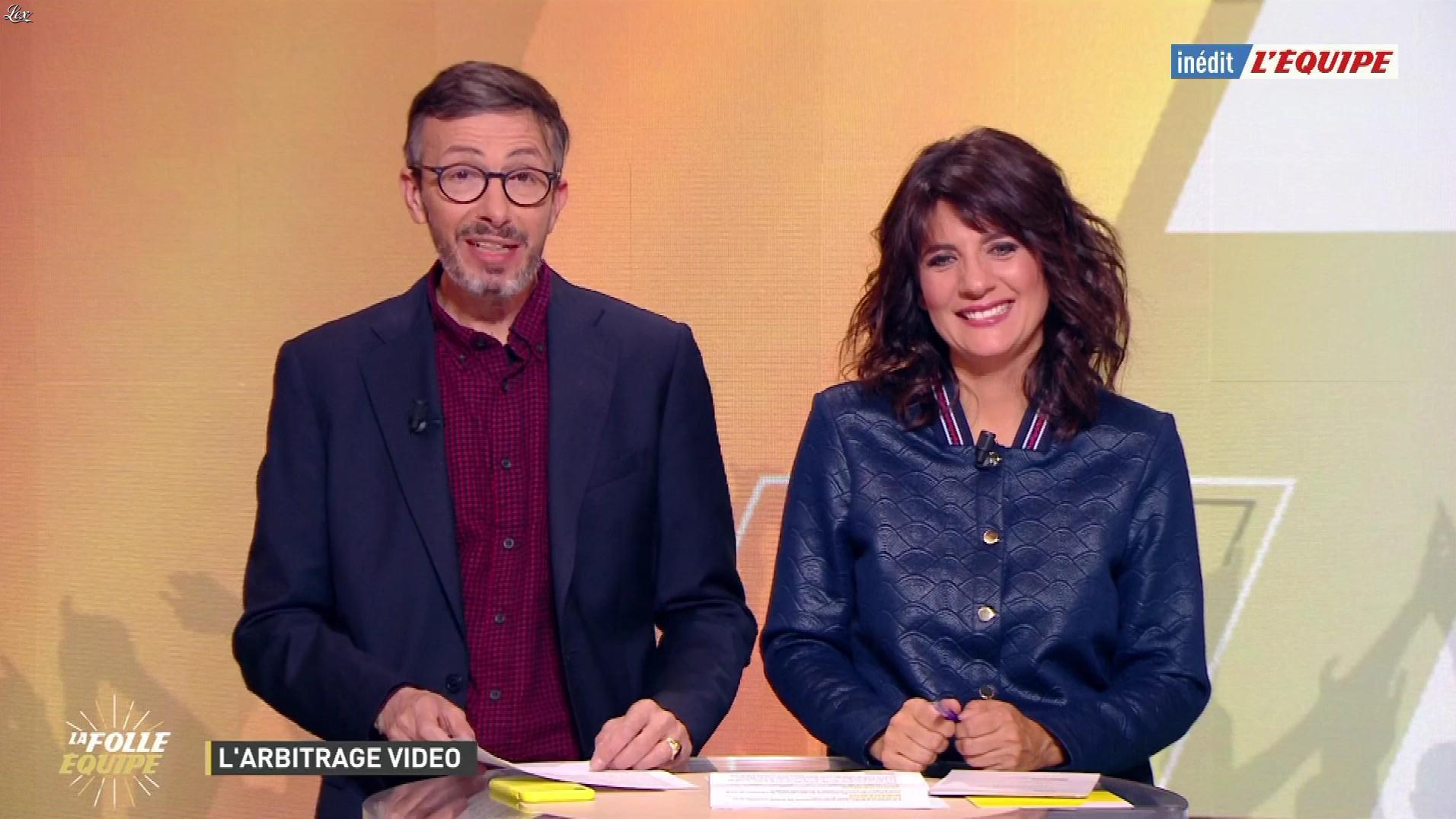 Estelle Denis dans la Folle Equipe. Diffusé à la télévision le 01/04/19.