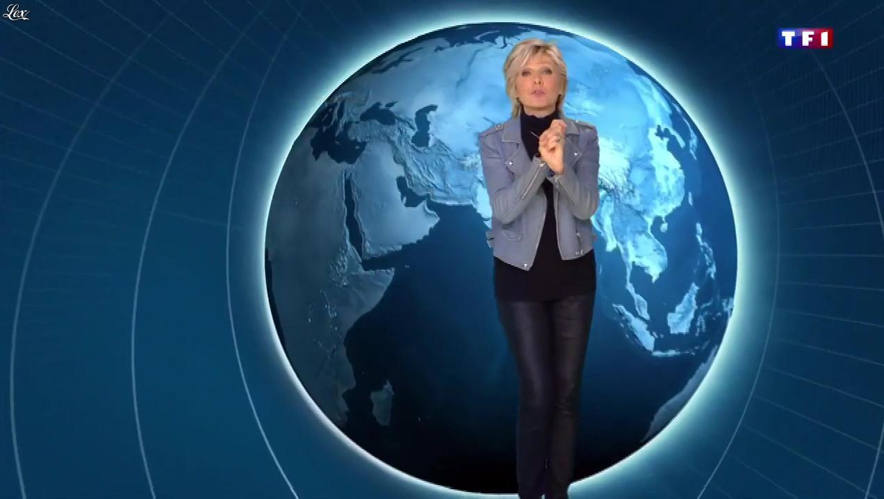Evelyne Dhéliat à la Météo. Diffusé à la télévision le 09/01/19.