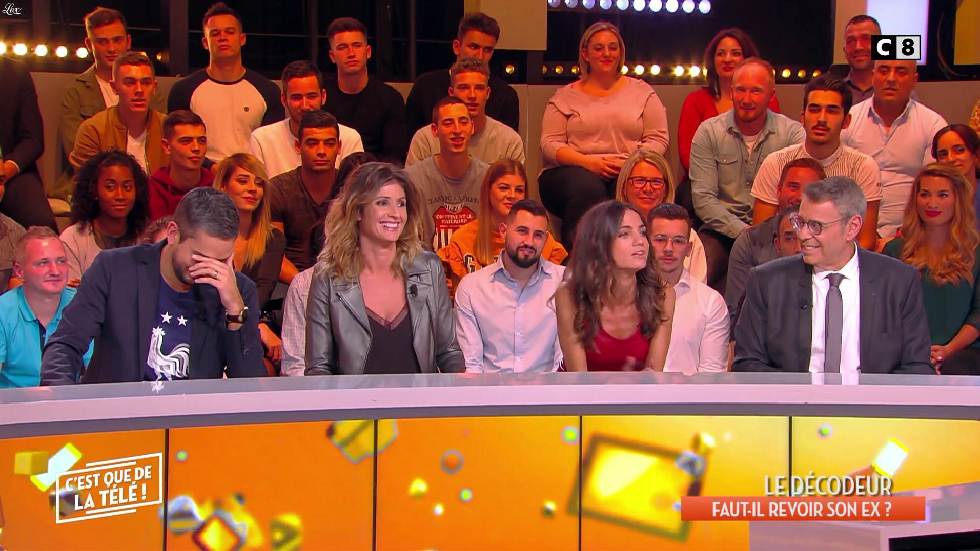 FrancesÇa Antoniotti et Caroline Ithurbide dans c'est Que de la Télé. Diffusé à la télévision le 06/03/19.