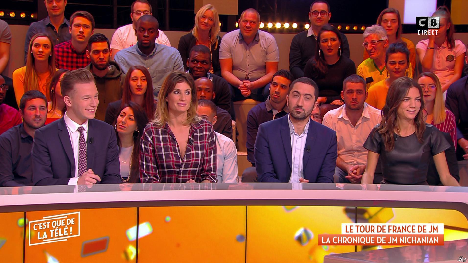 FrancesÇa Antoniotti et Caroline Ithurbide dans c'est Que de la Télé. Diffusé à la télévision le 26/11/18.