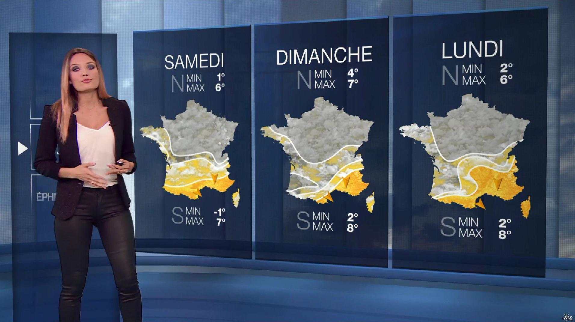Gennifer Demey à la Météo du Soir. Diffusé à la télévision le 31/12/18.