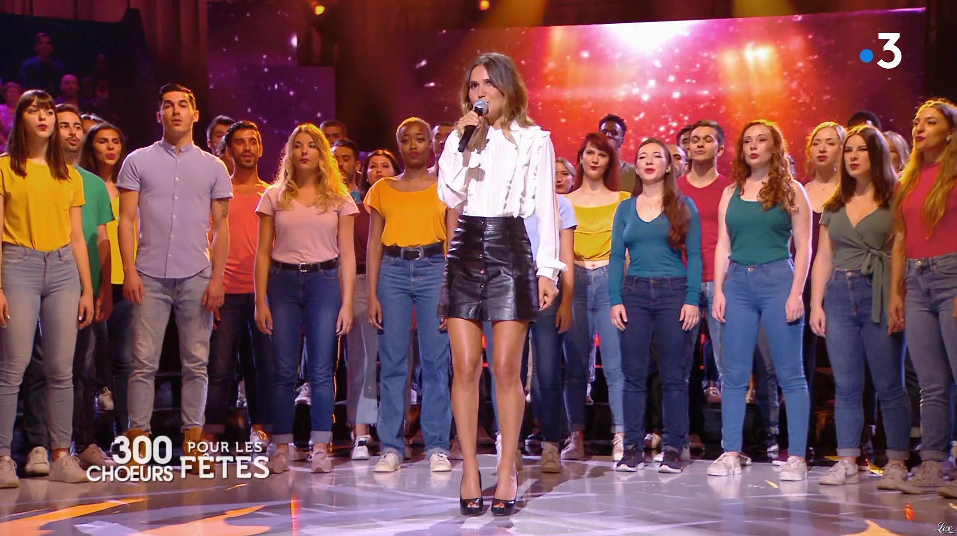Joyce Jonathan dans 300 Chœurs pour les Fêtes. Diffusé à la télévision le 21/12/18.