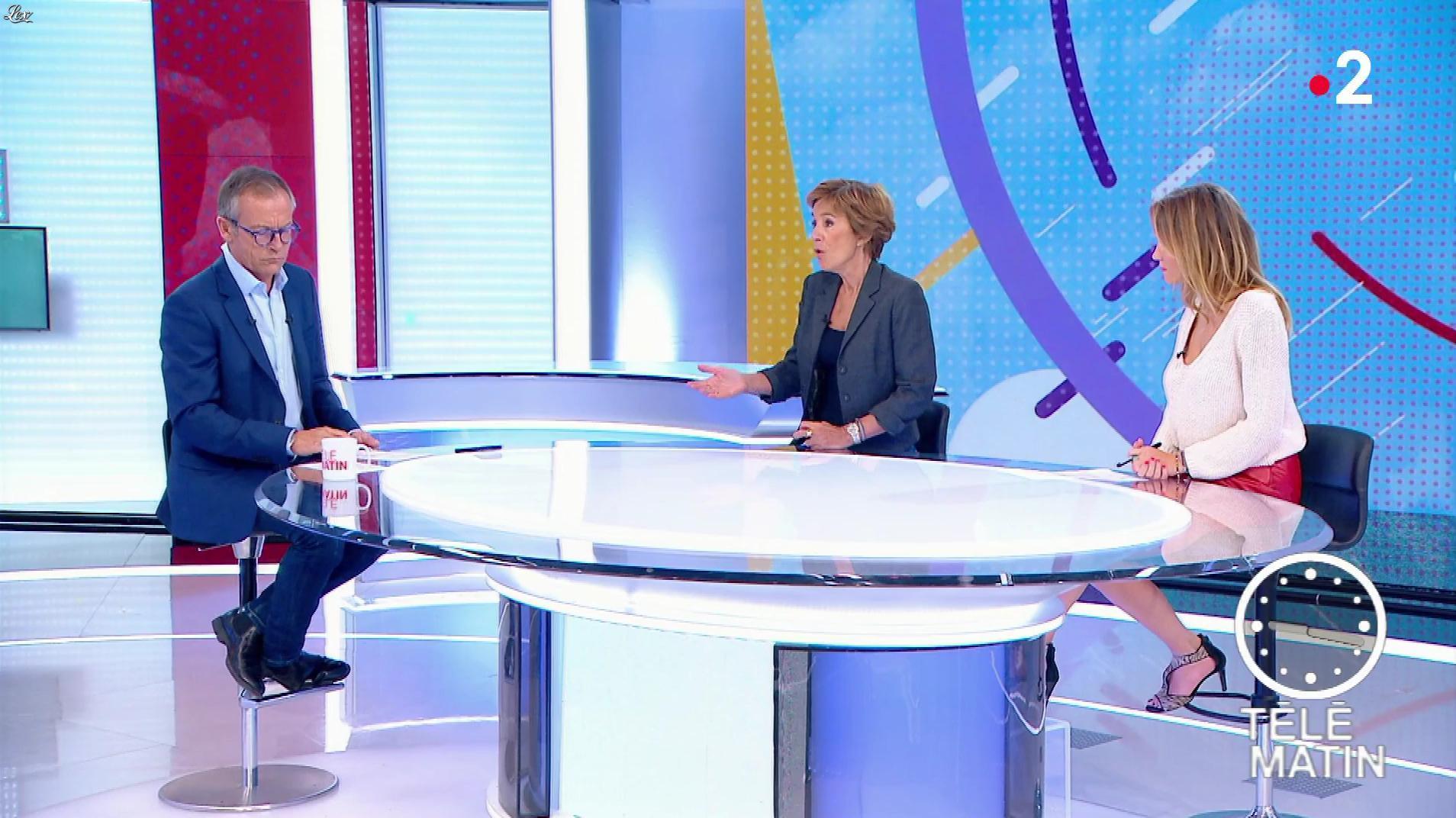 Julia Livage dans Télématin. Diffusé à la télévision le 24/09/18.