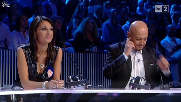 Anna Tatangelo dans X Factor. Diffusé à la télévision le 21/09/10.